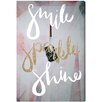 Oliver Gal Smile Sparkle Shine by Runway Avenue Graphic Art Wrapped on Canvas