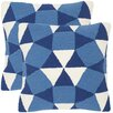 Abstract Puzzle Decorative Indoor Outdoor Throw Pillow (Set of 2)