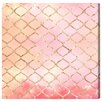 Oliver Gal Artana Make Me Blush Graphic Art Wrapped on Canvas