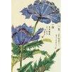 Magnolia Box Honzo Zufu [Blue Flower] by Kan'en Iwasaki Art Print on Canvas