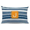 Dabney Lee Block Island Single Initial Cotton Lumbar Pillow