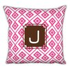Dabney Lee Lucy Single Initial Cotton Throw Pillow