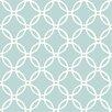 "Blue Links 18' x 20.5"" Wallpaper Roll"