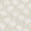 """WallPops! Dandelion 18' x 20.5"""" Taupe Wallpaper Roll"""