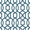 "Navy Grand 18' x 20.5"" Trellis Wallpaper Roll"