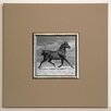 ERGO-PAUL Black Horse Framed Painting Print