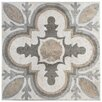 "EliteTile Ardisana 13.13"" x 13.13"" Ceramic Patterned/Field Tile in Gray/Brown"