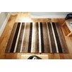 Metro Lane Paris Hand-Woven Wool Brown/Black Rug