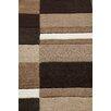 Metro Lane Nellie Hand-Woven Wool Brown/Black Rug