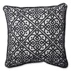 Pillow Perfect Lace It Up Ebony Perfect Throw Pillow