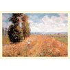 Buyenlarge 'Paysage Pres de Giverny' by Claude Monet Painting Print