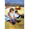 Buyenlarge 'Children Playing on the Beach' by Mary Cassatt Painting Print