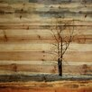 Mercury Row 'Landscape & Nature Tree Stands Alone' by Parvez Taj on Wood in Brown