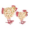 Ian Snow 2 Piece Dotty Chicken Figurine Set