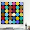 Modern Dots Nine Colors Graphic Art on Canvas
