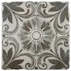 "EliteTile Diego 7.75"" x 7.75"" Ceramic Patterned/Field Tile in Matte Gray/Brown"