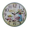 Obique Wanduhr Cupcakes and Flowers 34 cm