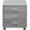 CS Schmal Soft Plus 3 Drawer Mobile Vertical Filing Cabinet