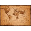 NEXT! BY REINDERS World Map Antique Wall Art