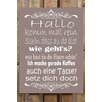 Factory4Home BD-Hallo Komm Mal Rein Typography Plaque Set in Taupe (Set of 2)