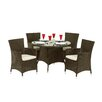 Royal Craft Cannes 4 Seater Dining Set with Cushions