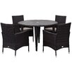 Safavieh Evje 4 Seater Dining Set with Cushions