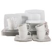 Creatable Victoria Weiß 30 Piece Dinnerware Set