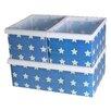 Jocca 3 Piece Star Plastic Storage Box Set