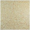 "Bader 0.8"" x 0.8"" Porcelain Mosaic Tile in Truffle"