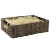 CandiGifts Wooden Handles Seagrass Wicker Storage Basket