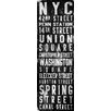 Marmont Hill Union Square' Typography Art Wrapped on Canvas