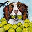 Marmont Hill Tara Likes Tennis' Art Print Wrapped on Canvas