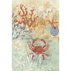 Marmont Hill Floral Frenzy Coastal IV' Art Print Wrapped on Canvas