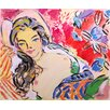 Marmont Hill Deborah with Flowers' Art Print Wrapped on Canvas