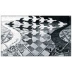 House Additions 'Day and Night' by Escher Graphic Art Plaque
