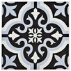 "EliteTile Lima 7.75"" x 7.75"" Ceramic Patterned/Field Tile in Blue/Black"