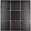 "EliteTile Vigor 3.88"" x 3.88"" Porcelain Mosaic Tile in Black"