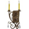 Meyda Tiffany 2-Light Thierry with Crystals Wall Sconce