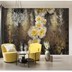 Komar Serafina 2.54m L x 368cm W Floral and Botanical Tile/Panel Wallpaper