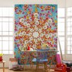 Komar Happiness 2.54m L x 184cm W Floral and Botanical Tile/Panel Wallpaper