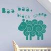 Cut It Out Wall Stickers Baa Baa Black Sheep Nursery Rhyme Wall Sticker