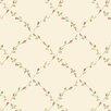 "Norwall Wallcoverings Inc Pretty Prints IV 32.7' x 20.5"" Red Rose Trellis Wallpaper"