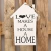 Factory4Home HS-Love Makes Typography Plaque Set in White (Set of 2)