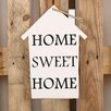 Factory4Home HS-Home Sweet Home Typography Plaque Set in White (Set of 2)