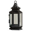 August Grove Callie Metal and Glass Lantern