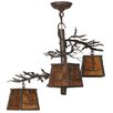 Meyda Tiffany Pine Branch Valley View 3-Light Shaded Chandelier