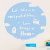 Cut It Out Wall Stickers Life Takes Us to Unexpected Places Love Brings Us Home Wall Sticker