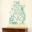 Cut It Out Wall Stickers Bob Marley One Thing About Music When It Hits You Feel No Pains Wall Sticker