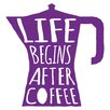 Cuadros Lifestyle Life Begins After Coffee Wall Tattoo