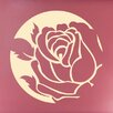 Cut It Out Wall Stickers Rose In Circle Wall Sticker